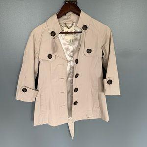 BB Dakota Button Down Coat Cream Size XS